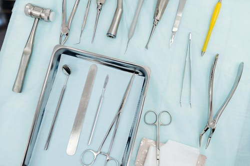 equipment for dental surgery and extraction