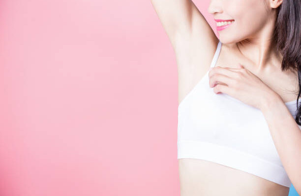 clean underarms with electrolysis hair removal treatment